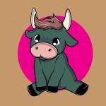 Bull Kid Dễ Thương Và Đáng Yêu Vector