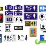 Corel Biển Báo WC, Nhà Vệ Sinh, Toilet
