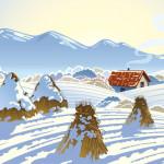 Vector Khung Cảnh Mùa Giáng Sinh An Lành 02