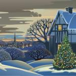 Vector Khung Cảnh Mùa Giáng Sinh An Lành 03