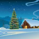 Vector Khung Cảnh Mùa Giáng Sinh An Lành 04