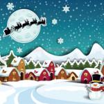 Vector Khung Cảnh Mùa Giáng Sinh An Lành 05