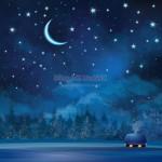 Vector Khung Cảnh Mùa Giáng Sinh An Lành 06