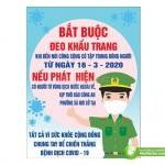Poster Bắt Buộc Đeo Khẩu Trang Phòng Dịch, Tải File Corel