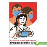 Poster Đeo Khẩu Trang Phòng Dịch, Tải File Corel