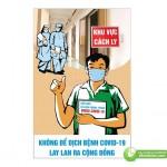 Poster Không Để Dịch Bệnh Lan Rộng, Tải File Corel