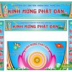 Đại Lễ Phật Đản, Phông Nền Và Băng Rôn Corel