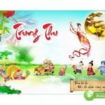 Trang Trí Phông Nền Tết Trung Thu, Thiết Kế Corel 5