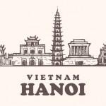 Vector Hình Phác Họa Di Tích Thủ Đô Hà Nội 1